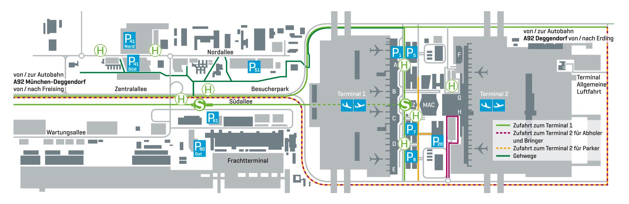 Flughafen München Parkplatzbuchung